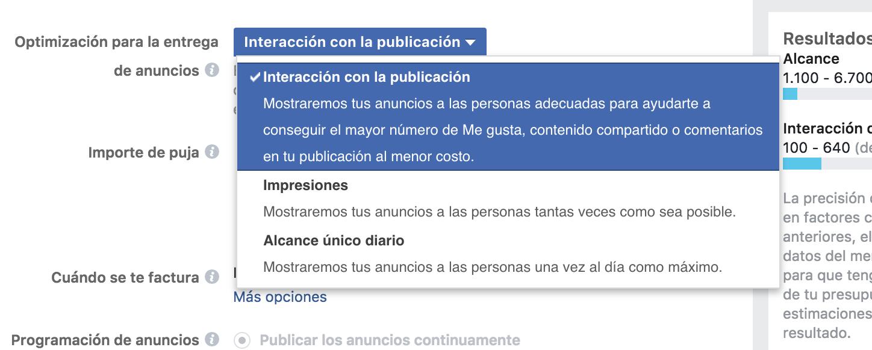 Optimizar-anuncios-en-facebook-interacción-con-la-publicacion