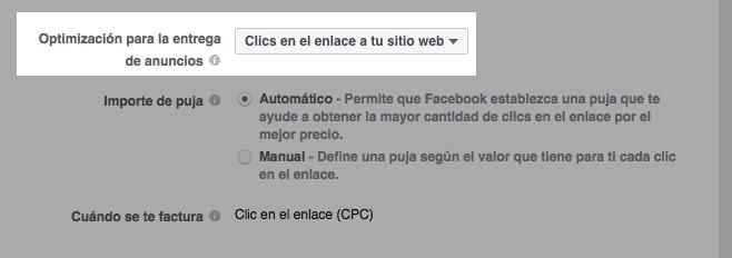 optimizar-para-clics-en-sitio-web-facebook- optimizar tus anuncios en Facebook