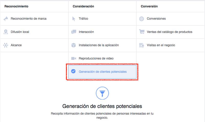 Campañas para captar clientes potenciales en facebook