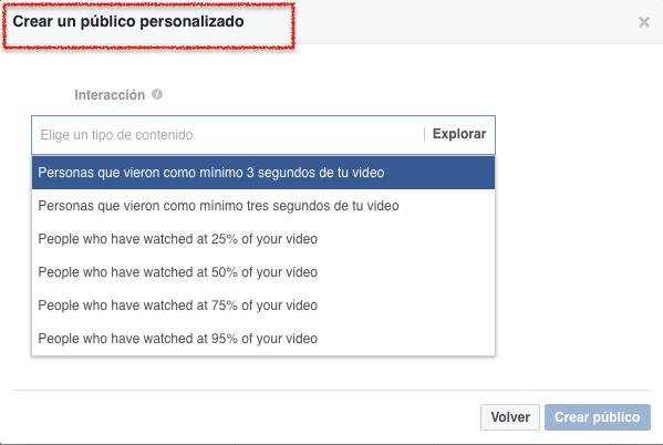 Publicos personalizados - interección con tu video