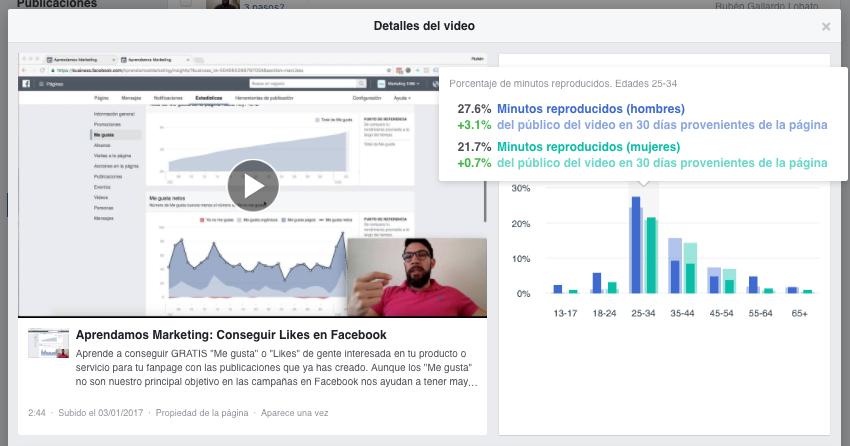 publico mas activo facebook insights