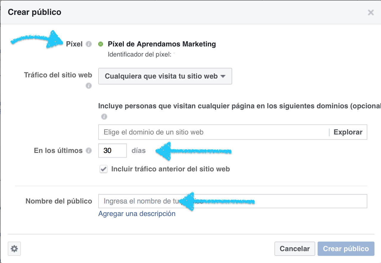 publico personalizado para campañas de retageting en facebook - Aprendamos Marketing