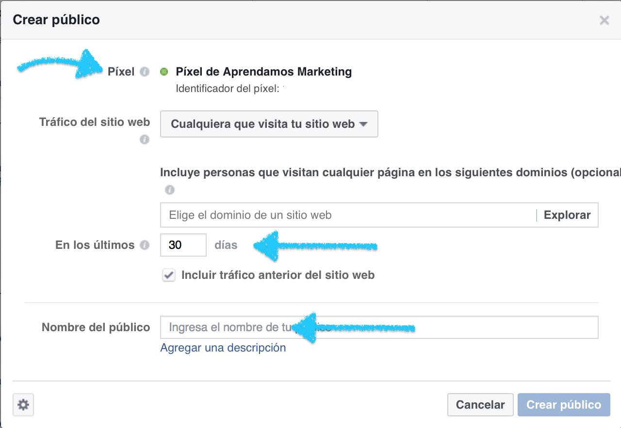 publico personalizado para campañas de retageting en facebook - Aprendamos Marketing