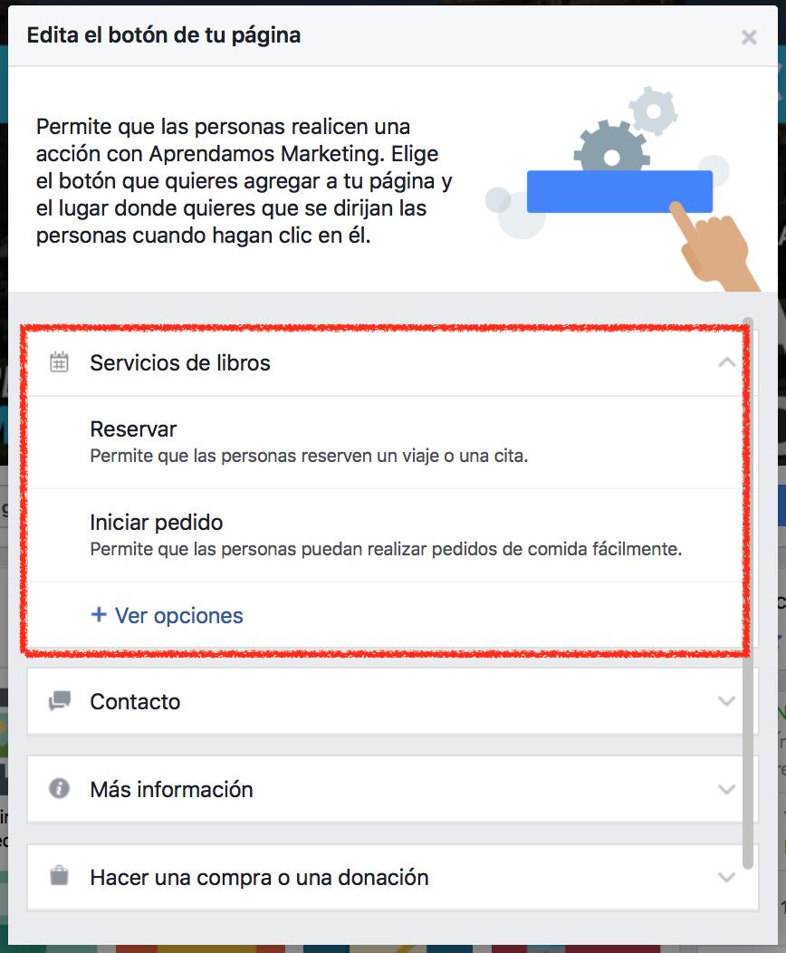 El nuevo Botón Call-to-Action en Facebook con mas funcionlalidades