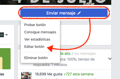 configurando tu Botón Call-to-Action en Facebook