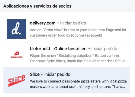 integraciones de 3ros en el botón CTA de facebook
