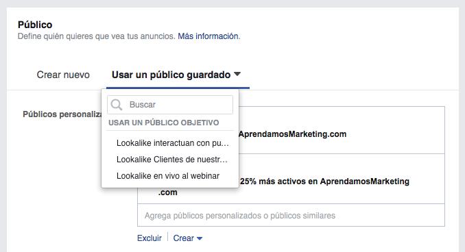Crea el primer conjunto de anuncios basado en tu público objetivo