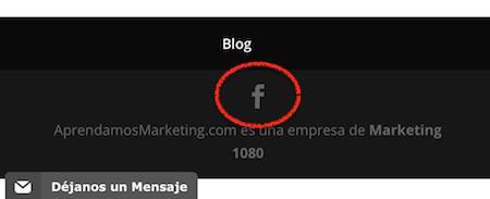 No pagar por likes en facebook - pie de tu sitio web