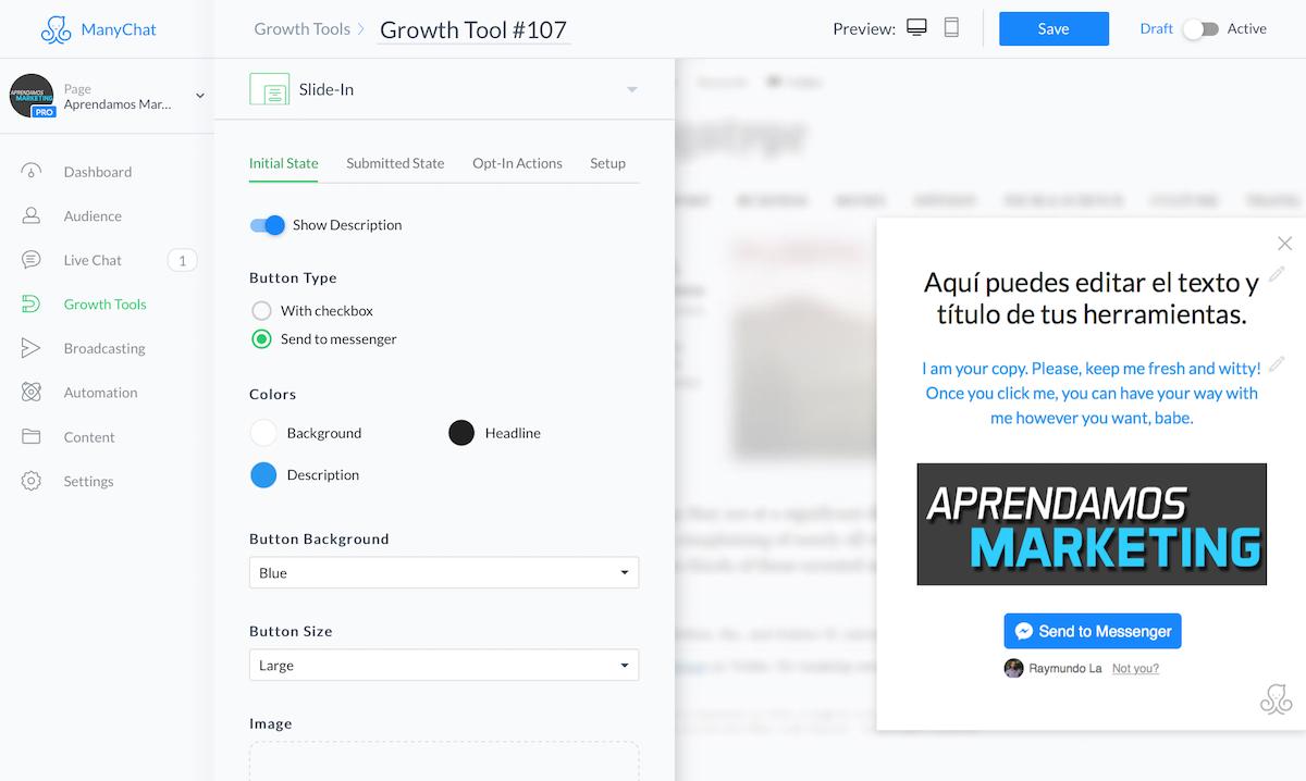 crear mensajes automatizados en Messenger - Diferentes herramientas