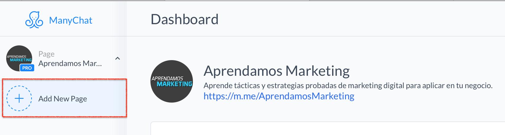 crear mensajes automatizados en Messenger - conectar fanpage