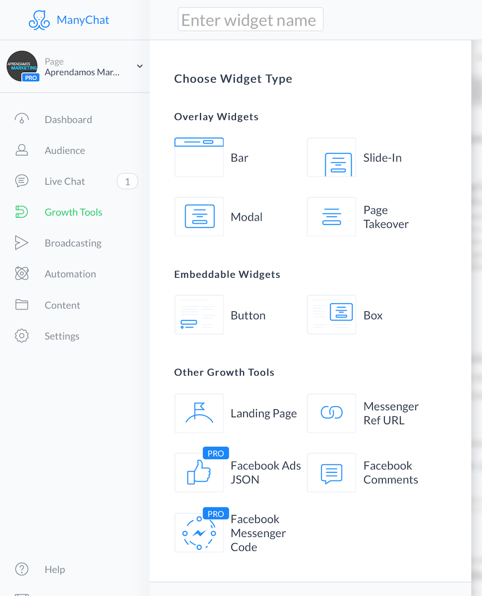 crear mensajes automatizados en Messenger - growth-tools