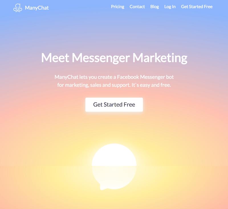crear mensajes automatizados en Messenger-inicio