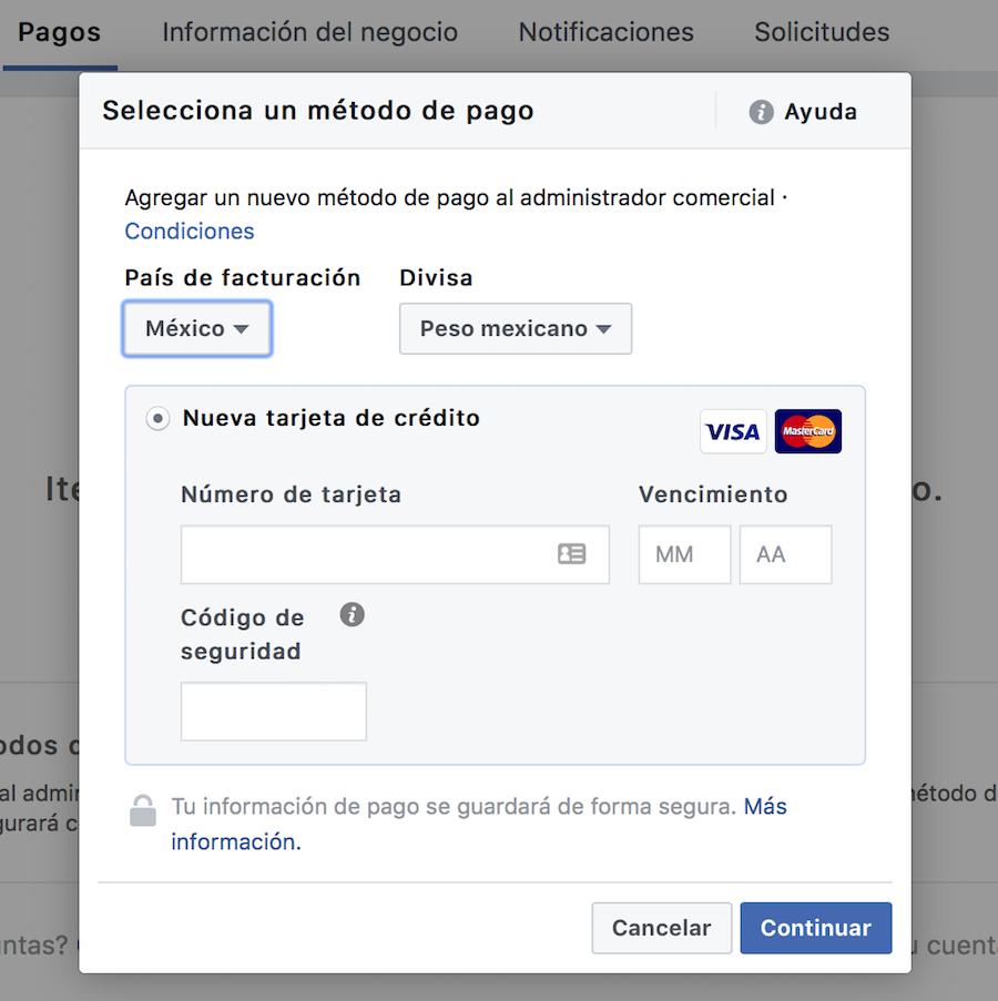 métodos-de-pago-en-el-administrador-comercial-de-facebook
