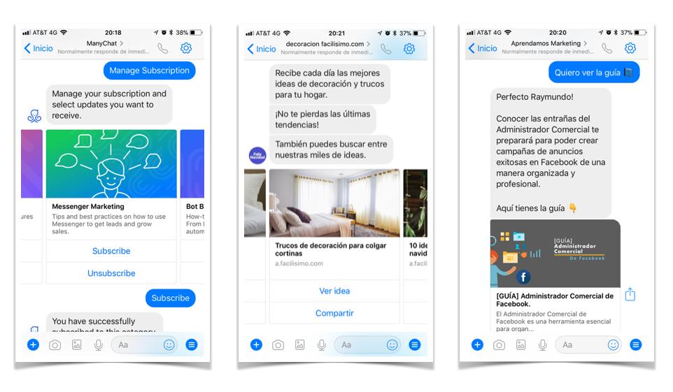 5 formas de usar un chatbot en tu negocio - Difunde contenido con un toque personalizados