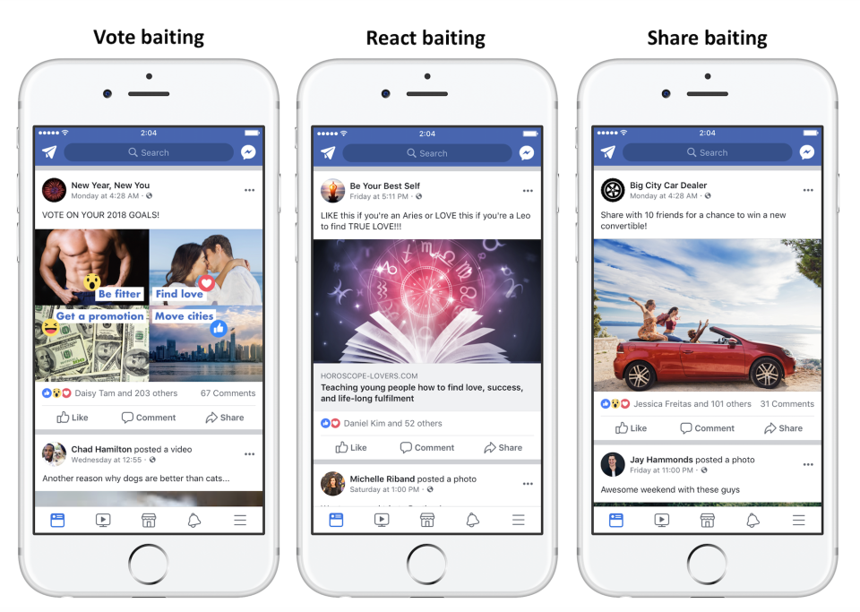 Engagement Bait es una mala práctica para hacer Facebook Messenger marketing correctamente