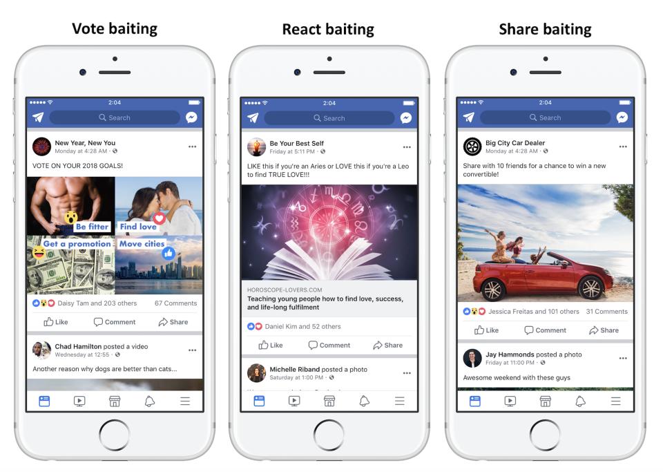 Engagement Bait es una mala práctica para hacer Facebook Messenger marketing correctamente