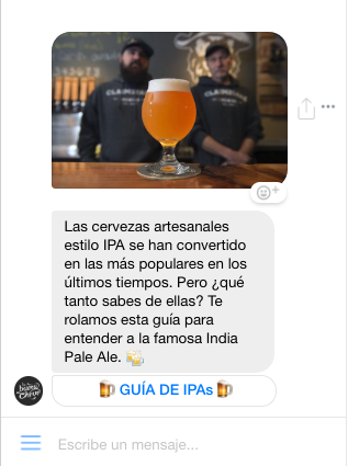 tu público como individuos - hacer marketing en Faceoook messenger.